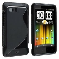 Flexible TPU Gel Case for HTC Vivid - Black