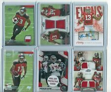 Mike Evans (12) Card Lot! 10 Rookies/ Relics/Auto/#!