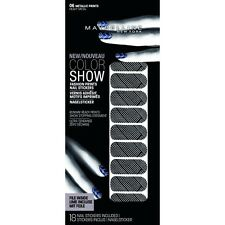 Maybelline Color Show Nail Stickers 06 Metallic Prints Heavy Metal (3 Pack)