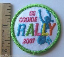 """Girl Scout 2007 COOKIE SALE """"RALLY"""" PATCH Step It Up! Jumping Selling Incentive"""