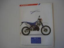 advertising Pubblicità 1991 MOTO HONDA CRM 125
