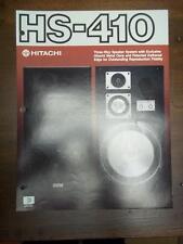 Hitachi Brochure~HS-410 Speaker System~Catalog Insert~Specifications