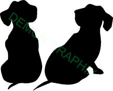Dachshund puppies vinyl decal/sticker dog animal pet pup