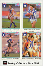1992 Regina AFL Trading Cards Club Team Set North Melbourne (11) -- Mint!