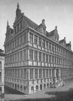BELGIUM Ghent Gent City Hall - 1860s Antique Engraving Print