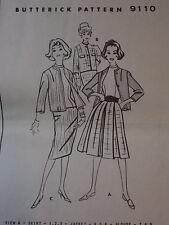 Uncut 60s Jacket Blouse Skirt Vtg Sewing Pattern Butterick 9118 B 31