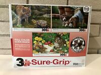 """Sure-Lox 3 Puzzle Set """"Hello Bobcat"""" """"Getting The Scent"""" & """"Berry Sweet Bunny"""""""