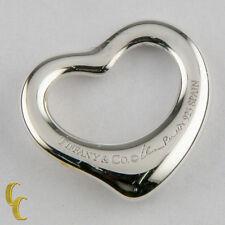 Tiffany & Co. Sterling Silver Elsa Peretti Open Heart Pendant Small Size 16 mm