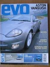 Evo 35 September 2001 Aston Vanquish Pagani Zonda TVR Tuscan Lotus Carlton 500E