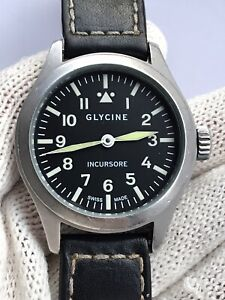 GLYCINE WATCH INCURSORE 3762 MANUAL CAL.6497-1 MENS 44mm SWISS MADE
