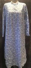 Ll Bean Blue Deer Winter Cotton Flannel Modest Long Nightgown Womens Large