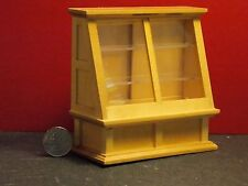 Dollhouse Miniature Oak Store Shop Display Case 1:12 scale G78 Dollys Gallery