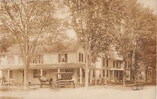 1910 RPPC Chester A. Nash Groceries Delivery Wagon Sand Lake NY Rensselaer Cnty.