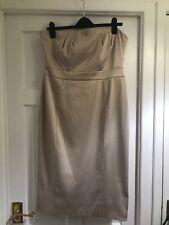 NICHOLAS MILLINGTON Cream Strapless Dress Uk Size 16 Evening Wear