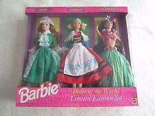Barbie:  1994 Dolls of the World:  Irish, German & Polynesian Barbie Set NIP