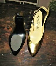 Gold Nina Slingback Pumps Sz. 7M