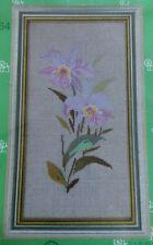 "New Eva Rosenstand Cross Stitch Kit Clara Weaver ""Lilac Orchid"" Linen 20x35 cm"