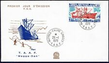 689 TAAF FRANCE FDC 1978 SHIP ICEBAKER MAGGA DAN ANTARCTICA