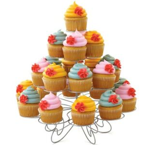 Cupcake Holder Stand Flower Wedding Party Banquet Event 4 Tier 23 Cupcakes New