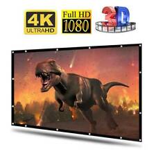 84-100'' Projection Projector Screen Fabric 16:9 Portable Cinema Theater Matte