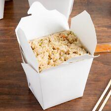 Pack of 100 WHITE Quart Chinese Take Out Box / 26 oz Food Pail