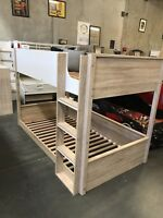 Bunk Bed KING single Walnut With White NEW IN BOX LIMITED STOCK KIDS Lowline