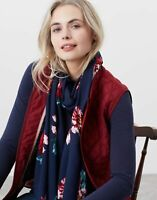 Joules Womens Conway Printed Scarf - Navy Peony - One Size