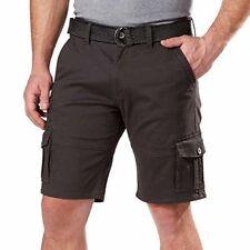 NEW Weatherproof Vintage Mens Comfort Stretch Utility Cargo Shorts Adjust Belt