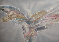LARGE VINTAGE ABSTRACT OIL PAINTING
