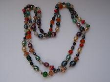 Design Glaskette Murano Italien 70 Jahre Kette Necklace Halskette Glasperlen 277
