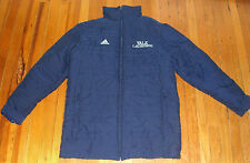 Authentic Yale University Quilted Blue Adidas Lacrosse Jacket/Zip missing handle