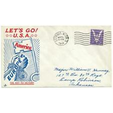 Mar 30, 1944 Key To Victory Patriotic Cover to Camp Robinson