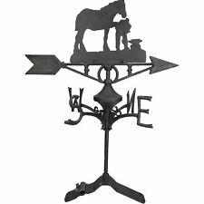 More details for horse / mare farrier weather vane vain ridge mount house roof cast iron shoe