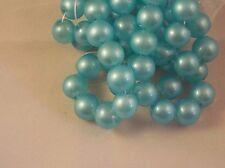 Glasperlen 10 Stück 12mm hellblau