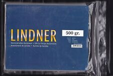 LINDNER KLEMMSTREIFEN-KILOWARE: 1.WAHL   500 GRAMM kristallklarem Hintergrund
