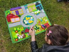 Children Handmade Soft Play Mat Racing Car Pretend Play Montessori Special Needs