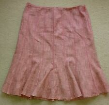 Ann Taylor Pink Tulip A-Line Skirt 10 Cotton/Wool