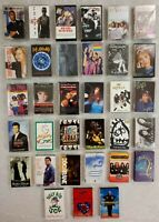 Lot of 33 Vintage Cassette Tapes 1980s-90's POP ROCK SOUL COUNTRY & MORE