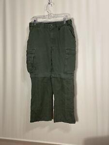 Boy Scouts Of America Convertible Uniform Pants Olive Green Mens Classic 32