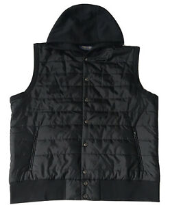 Ralph Lauren Polo Golf Sport Hooded Waistcoat / Gilet / Body Warmer Black / UK L