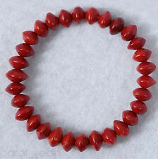 Natural Ormosia Red Bodhi Seed Beads Prayer Bracelet Mala Tibet Buddhist Fashion