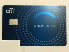 New listing Citi Simplicity Blue Collectable Inactive/Expired Credit Card