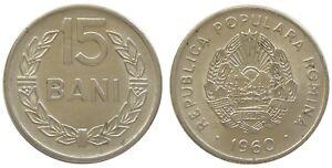 y172 ROMANIA RPR 15 BANI 1960 COIN KM#87 aUNC