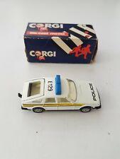 VINTAGE CORGI ROVER SD1 3500 POLICE CAR BOXED  DATED 1985