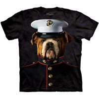 MARINE CORPS USMC BULLDOG DOG MILITARY T Shirt The Mountain Tee S- 3XL 4XL 5XL