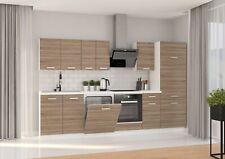 Küche Dave XL 300 cm Küchenzeile Küchenblock Einbauküche Sonoma Eiche Trüffel