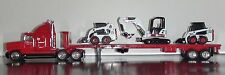 MELROE BOBCAT FREIGHTLINER TRUCK WITH S175, 753 & 430 BOBCATS DIECAST 1/50 SCALE