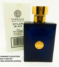 VERSACE POUR HOMME DYLAN BLUE EDT 3.4 OZ FOR MEN WITH CAP (BRAND NEW TESTER)