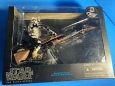 NEW Star Wars Black Series Speeder Bike with Biker Scout FREE SHIPPING