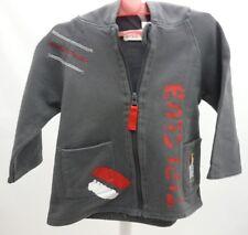 La Compagnie des Petits veste à capuche grise foncé zèbre bébé garçon 6 mois